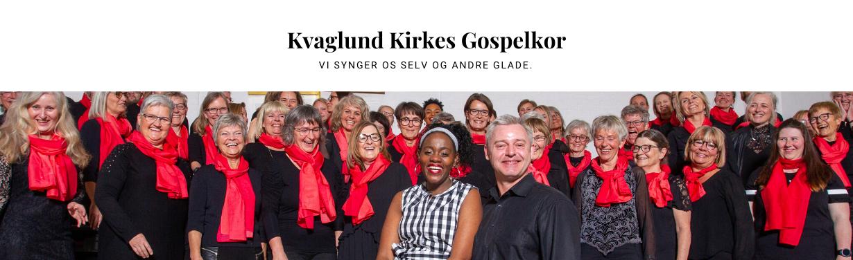 Opstillet billede af Kvaglund Kirkes gospelkor. Dekorativt billede